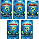 The Hidden World How to Train Your Dragon Mystery Blind Bag Lot Bundle of (5) Random Packs