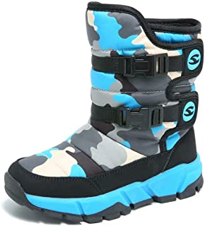 BODATU Boys Snow Boots Outdoor Waterproof Winter Kids Shoes