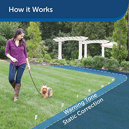 PetSafe Stubborn Dog In-Ground Fence for Dogs, Waterproof, with Tone, Vibration and Static Stimulation