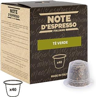 Note D'Espresso - Cápsulas de té verde exclusivamente