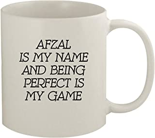 Afzal Is My Name And Being Perfect Is My Game - 11oz Coffee Mug, White