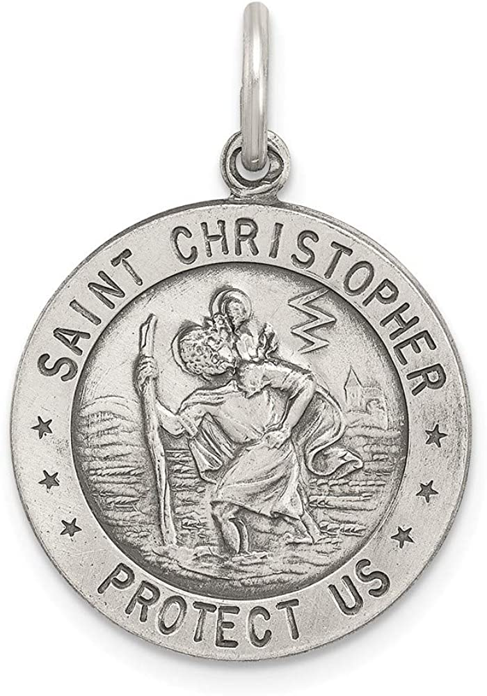 San Diego Mall Solid 925 Sterling Silver Catholic Saint Socc Selling rankings Patron Christopher