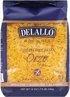 DeLallo Corn & Rice Orzo Pasta 12.0 OZ (PACK OF 6)