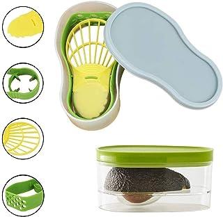 Dolloress 5 in 1 Avocado Slicer Avocado Saver Multi Functional Avocado Tool Set Avocado Keeper Cutter Masher Pitter Peeler