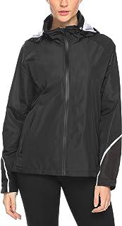 Womens Lightweight Raincoat Hooded Waterproof Anorak Active Outdoor Rain Trench Coat