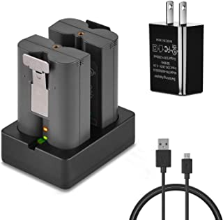 Ring Rechargeable Batteries Charging Station,Compatible with Ring Video Doorbell, Ring Spotlight Cam Battery & All-New Ring Stick Up Cam Battery (Batteries Not Included)