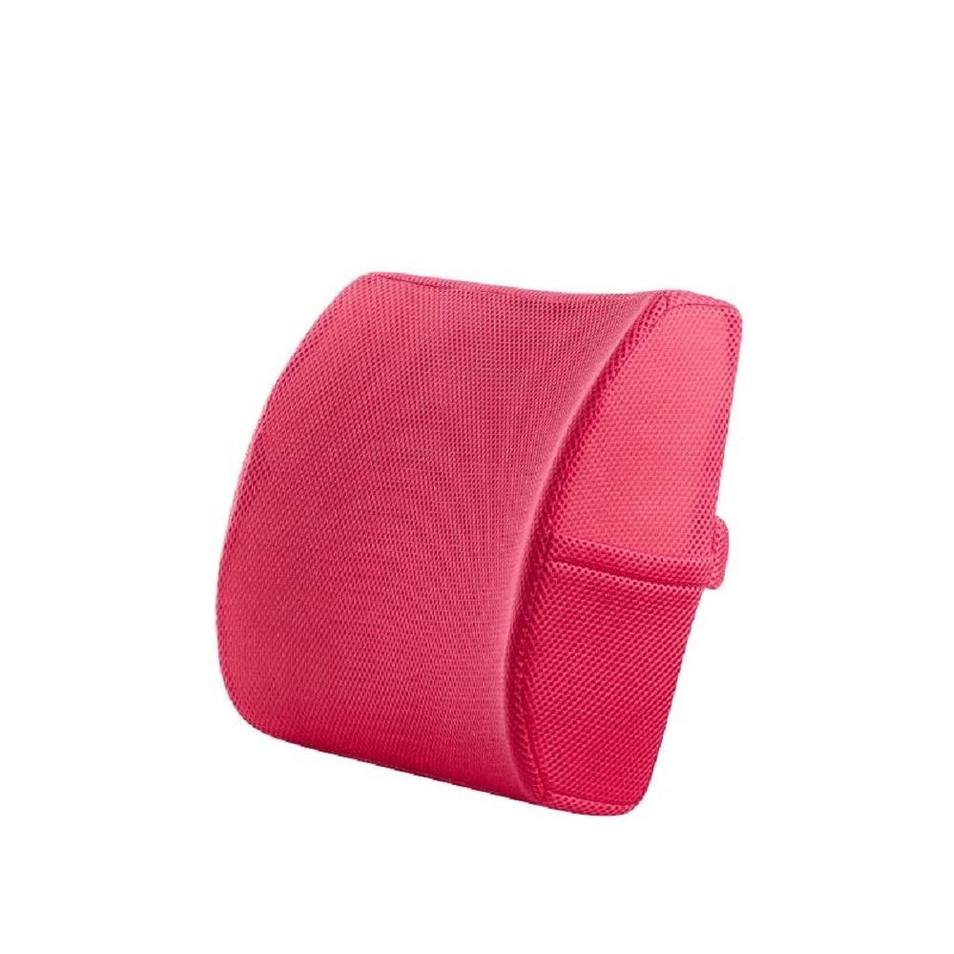 飼いならす誰でも耕す腰まくら 多目的腰椎サポートメモリ腰椎枕腰痛サポート背中の保護と鎮静柔らかくしっかりとしたバランスのとれた枕で姿勢を改善 (色 : ピンク, サイズ : Free size)