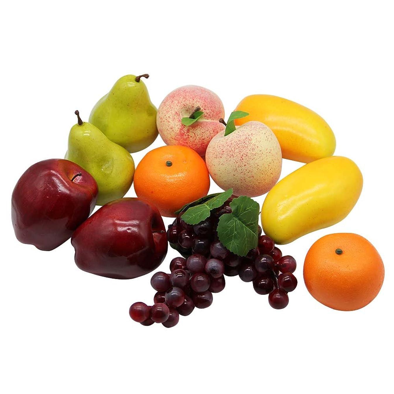 Decorative Lifelike Realistic Artificial Fake Fruit Decor (Set of 12)