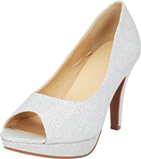 Cambridge Select Women's Classic Platform Peep Toe High Heel Dress Pump