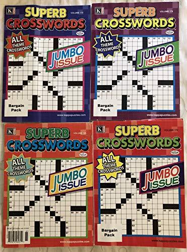 Lot of (4) Superb Crosswords Jumbo Issue Crossword Puzzles Books Jumbo Issues Kappa 2019 2020