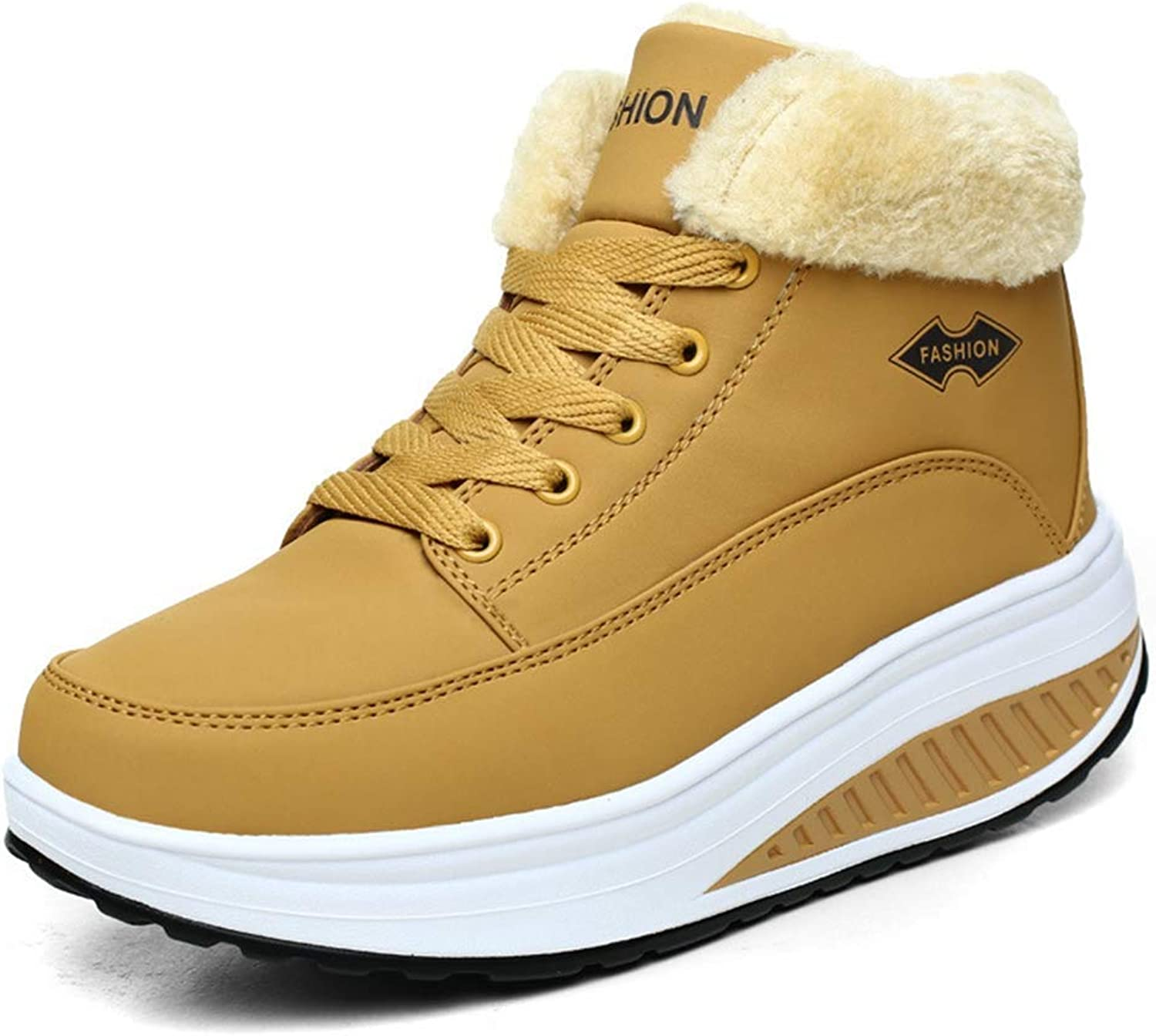 BMTH Women Waterproof Outdoor Snow Boots Fur Lined Non-Slip Athletic Sneaker Winter shoes Walking shoes