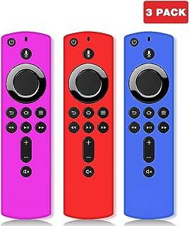 Wevove SiliconeRemote Casefor4k Firestick, Firestick Remote Cover, Firestick with Remote for Firetv (3rd Gen)/Firetv Cube[3Pack]