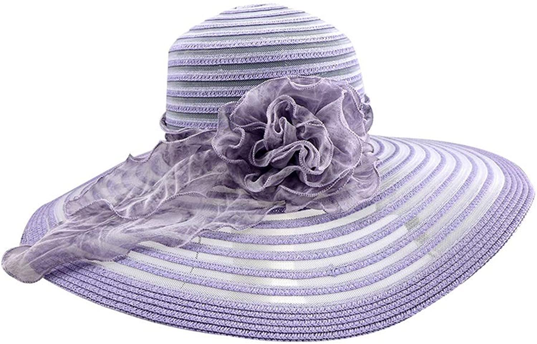 Summer Lady Purple Flower Fisherman Hat, Casual Outdoor Sun Predection UV Sun Hat, Travel Beach Holiday Beach Hat Adjustable (color   Purple, Size   Adjustable)