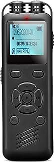 【2021 革新モデル】NAGA 録音機 ボイスレコーダー ICレコーダー 集音器 8GB 小型 超薄 超軽量 大容量 長時間録音 液晶画面 内蔵マイク 定時録音 変速再生 パスワード保護 MP3プレーヤー機能付 7つの言語機能対応 多機能搭載...