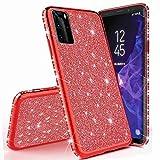 Miagon per Huawei P40 Glitter Cover,Brillantini Diamond Bordo Placcato Copertina Ultra Slim Silicone Custodia Bumper Case Custodie