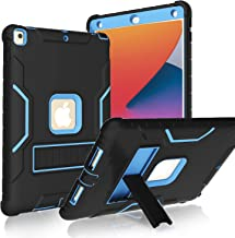 LTROP iPad 10.2 Case 2020/2019, iPad 8th/7th Generation Case with Built-in Screen Protector, 10.2-inch iPad Case Heavy Dut...