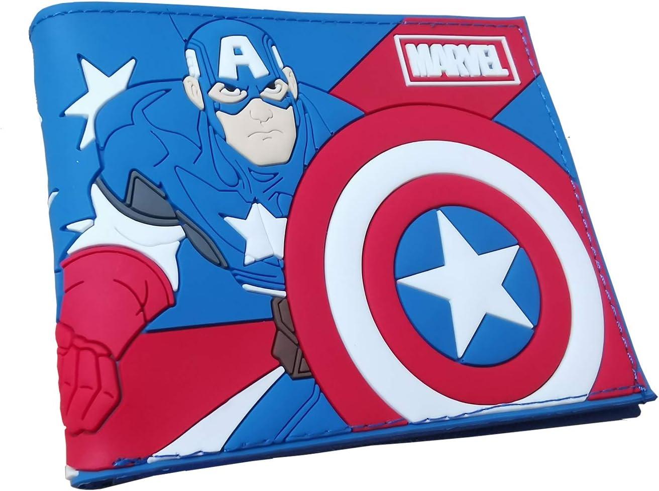 Superhero PVC material Max 75% OFF Bifold Max 59% OFF America Wallet Captain