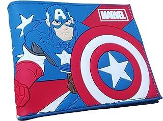 Captain America's PVC material Bifold Wallet (Captain America)