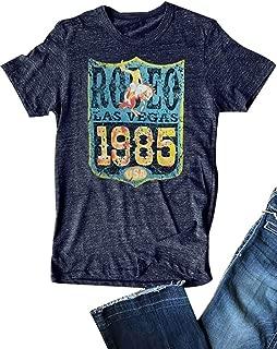 80s Rodeo T-Shirt Women Short Sleeve Classic Retro Female Casual Tee Tops