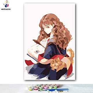 Paint by Number Kits 16 x 20 inch Canvas DIY Oil Painting for Kids, Students, Adults Beginner with Brushes and Acrylic Pigment - Harry Potter Hermione Jane Granger(Without Frame)
