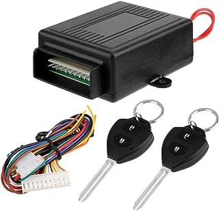 Chaufly キーレス エントリー システム キット 12V専用 ダミーセキュリティ LED付き アンサーバック 機能 リモコンキット キーレスエントリーキット キーレスキット