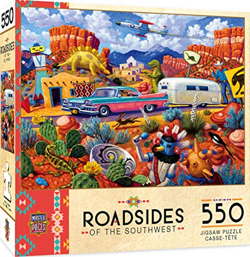 MasterPieces Roadsides of The Southwest Jigsaw Puzzle, Off The Beaten Path, Featuring Art by Steven Morath, 550 Pieces