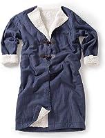 mofua(モフア) 着る毛布 ネイビー フリーサイズ デニム調 ボア あったか ルームウェア ワンマイルウェア 39006607