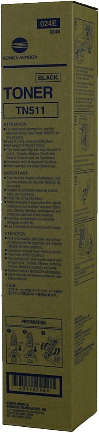 Genuine MINOLTA TN511 024E Sale special price Same day shipping TONER-BLACK-32.2K BIZHUB 360