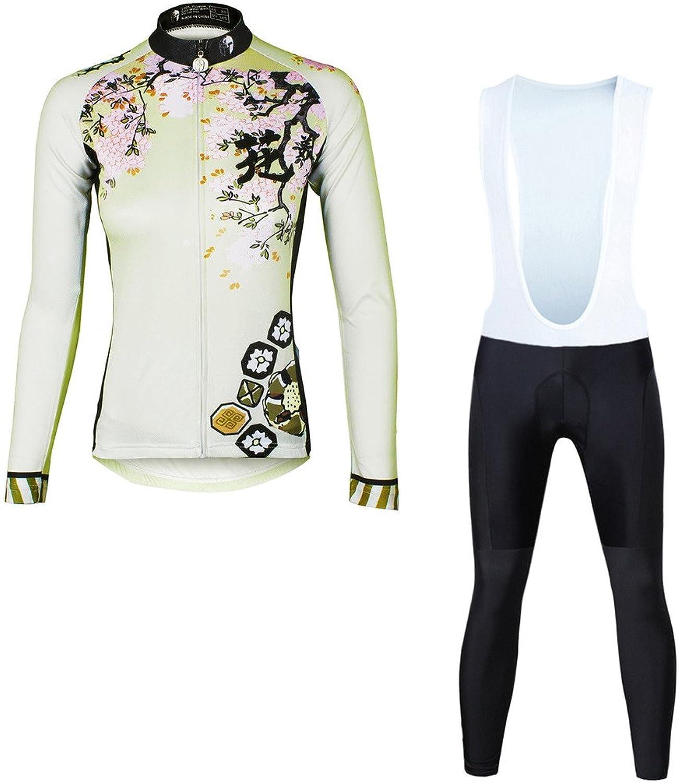 PaladinSport Cherry Pattern Women's Long Sleeve Bike Clothes