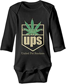 a821797e829e United Pot Smokers Baby Girls Long Sleeve Cotton Climbing Suit for 6-24M  Baby