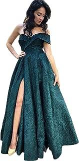 Best lace splicing high split evening dress Reviews