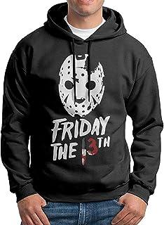 chouchou Jason Voorhees Friday The13Th Pullover Hooded Mens Black Sweatshirt Hoodie