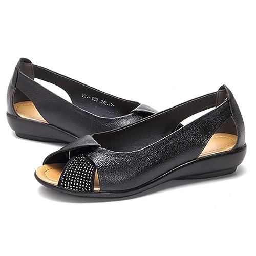 ladies black peep toe shoes
