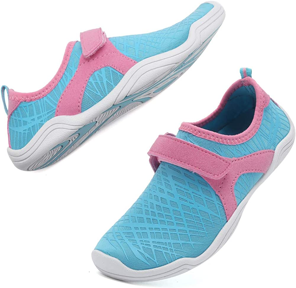 CIOR Boys & Girls Water Shoes Quick Drying Sports Aqua Athletic Sneakers Lightweight Sport Shoes(Toddler/Little Kid/Big Kid) DKSX-Light blue-24