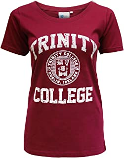 Burgundy and White Trinity College Dublin Ireland Seal Ladies Tee-Shirt