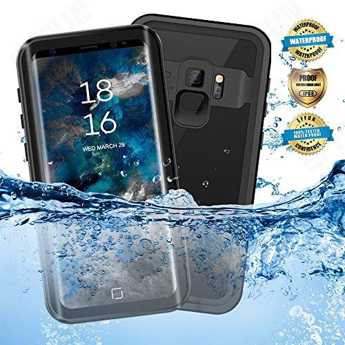 EFFUN Samsung Galaxy S9 Waterproof Case, IP68 Certified Waterproof Fully Sealed Underwater Cover Dustproof Snowproof Shockproof Case for Samsung Galaxy S9 Black