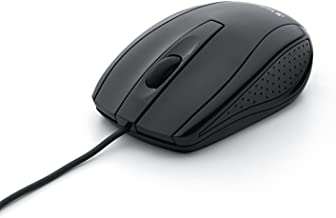 """Verbatim 98106 Optical Mouse - Wired with USB Accessibility - Mac & PC Compatible - Black, 1.2"""" x 2.3"""" x 3.8"""""""