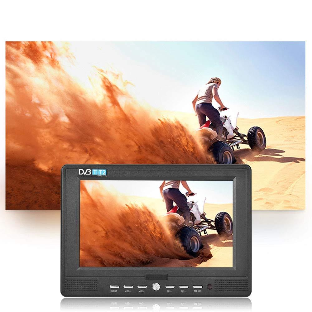 Annadue TV Digital portátil de 7 Pulgadas, Pantalla LED TFT a Color, TV analógica/ATV para Viajes Interiores/domésticos para automóviles: Amazon.es: Hogar