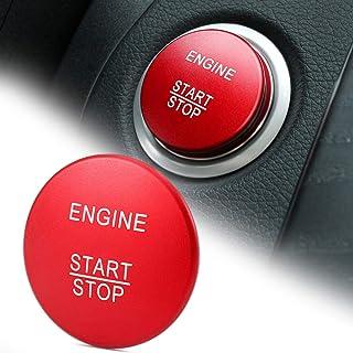 Dekorativer Auto Ring Aufkleber aus Aluminium für Auto Start Motor, Zündschlüssel Abdeckung, passend für Mercedes Benz A B C W205 GLC X253 AMG E ML GLE