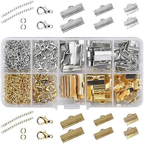 IWILCS 370 piezas de joyería para manualidades, cierre, herramientas de reparación, pendientes, manualidades, joyas, set de manualidades, para pulseras, collares, fabricación de joyas