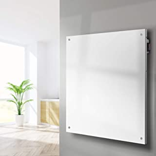 Devanti Electric Heater 450W Metal Wall Mount Panel Heater Infrared Slimline Portable Heater Caravan White
