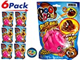 JA-RU Splat Poo Ball Sticky & Stretchy (Pack of 6 Pink) Poo 6429-Pink-6slp