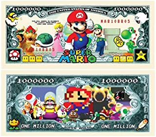 American Art Classics Super Mario Brothers Million Dollar Bill Limited Edition Collectible Bill - Comes in Currency Holder...