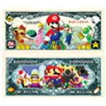 Super Mario Brothers Million Dollar Bills - Pack of 10 - Best Gift for Lovers of This Classic Game