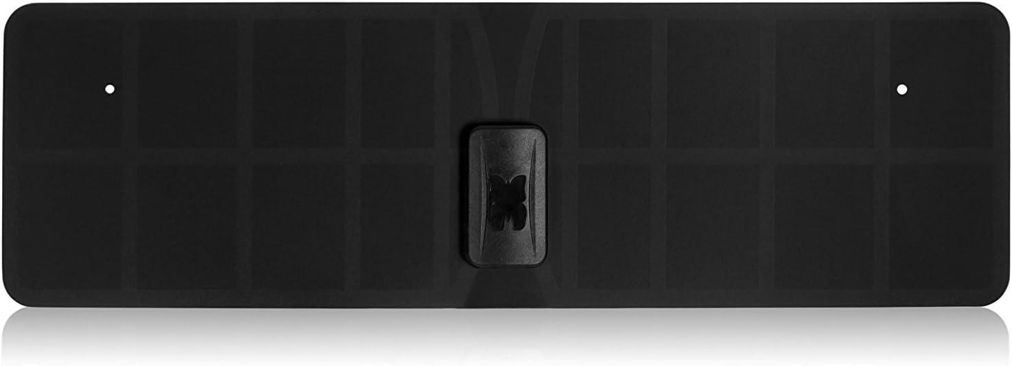 RGTech Monarch 40 Negro - Antena Interior - Rango de recepción de 40 Millas - Plana, Delgada como un Papel - Multi direccional Antena HDTV para una ...
