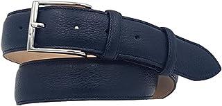 ESPERANTO Cintura in Vitello effetto Cervo foderata in pelle altezza 3,5 cm - Taglie extralunghe (da 150 cm a 170 cm)