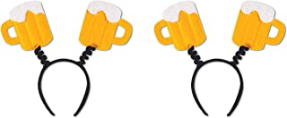 Beistle S60592AZ2 Beer Mug Boppers 2 Piece, One Size Fits Most, Yellow/White/Black