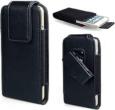 Swivel Belt Clip Case Vertical Phone Holster Holder Faux Leather Waist Pouch for iPhone Xs Max, 8 Plus, 7 Plus, BLU Vivo XL4, Vivo XL3 Plus, Vivo X, Alcatel 7, Huawei Honor 8X, P30 Pro, Mate 20 Pro