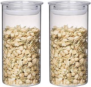 BBGSFDC Bocons en Verre STOCKES DE Stockage AIRTEIGHT STOCKESSIONS Pantry Organisation Contenants Cuisine Transparent pour...