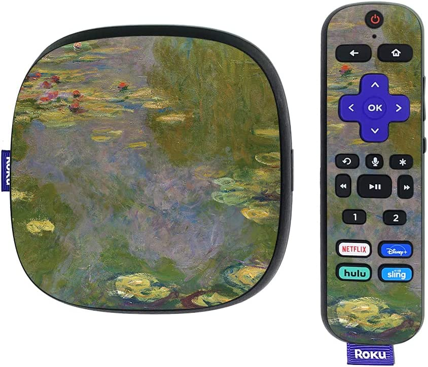 MightySkins Skin Compatible with Roku Ultra HDR 4K Streaming Media Player (2020) - Water Lilies | Protective, Durable, and Unique Vinyl Decal wrap Cover | Easy to Apply | Made in The USA